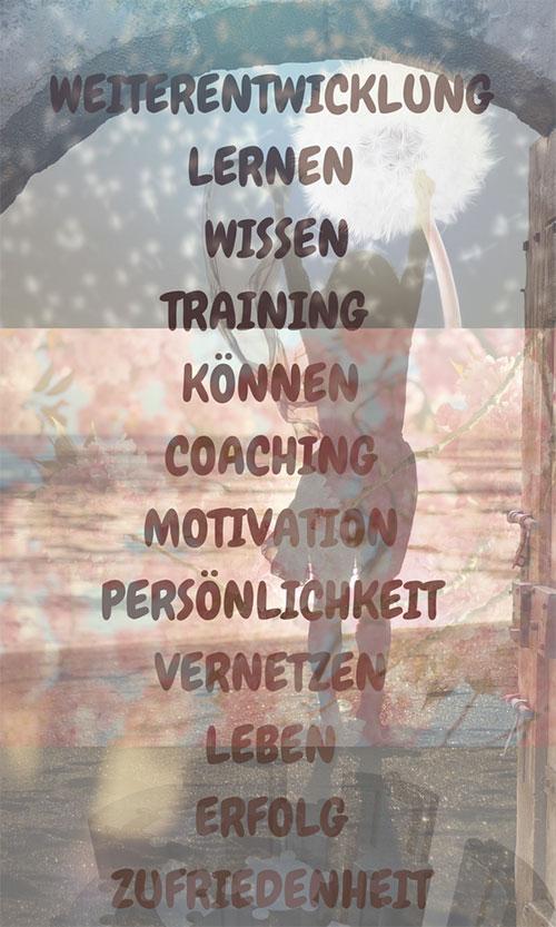 Weiterentwicklung Lernen Training Wissen Können Coaching Motivation Persönlichkeit Vernetzen Leben